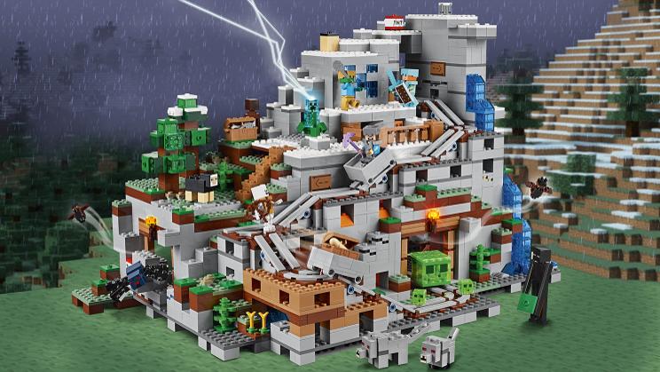 Лего майнкрафт пещера в горах