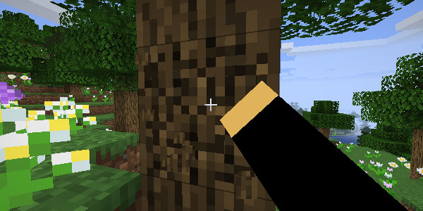 Добыча дерева руками